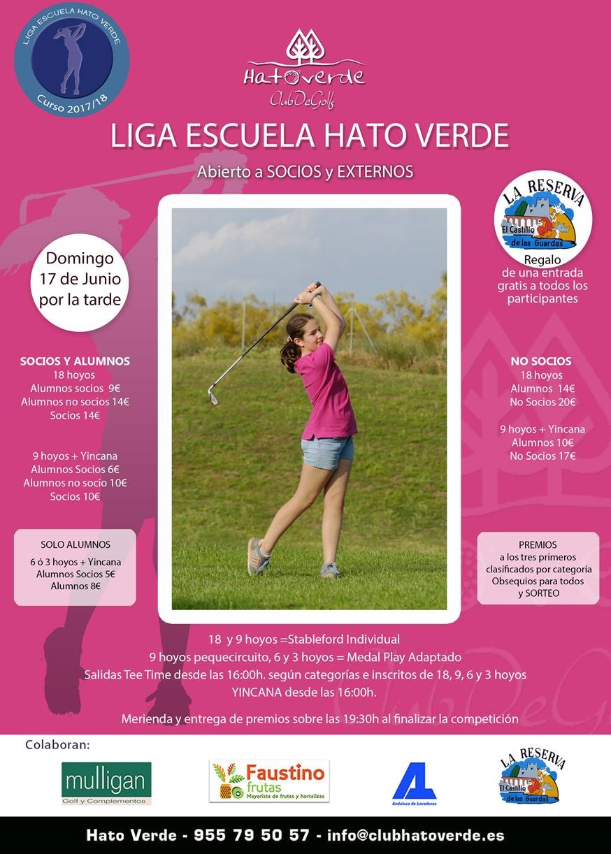 Liga Escuela de Golf (domingo 17 de junio)